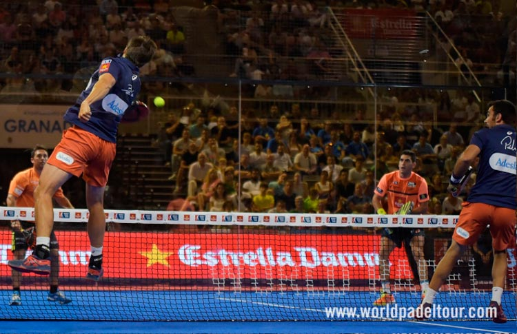 Fernando Belasteguín y Pablo Lima, en acción en el Granada Open 2017