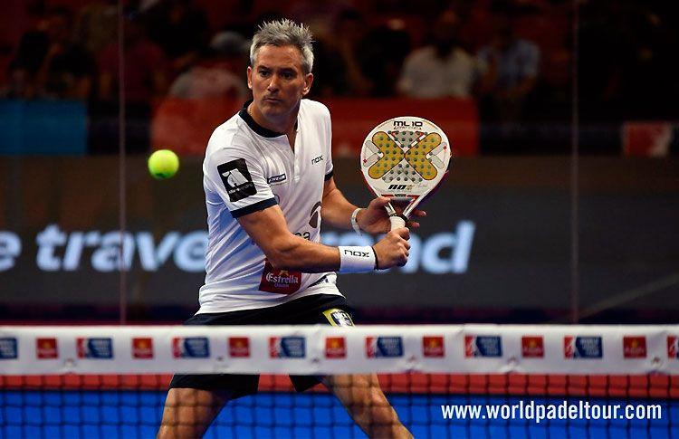 Miguel Lamperti, en acción en el Zaragoza Open 2017