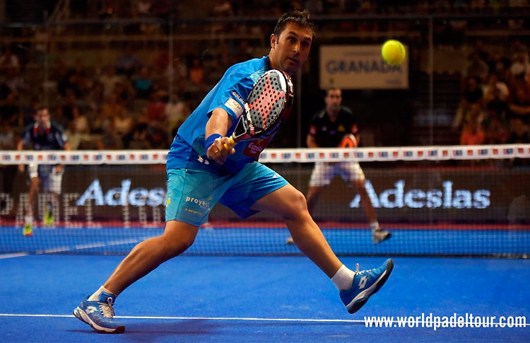 Matías Díaz, en acción en el Granada Open 2017