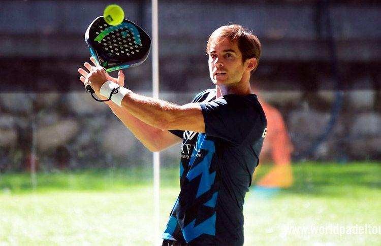 Gonzalo Rubio, en acción en el Andorra Open 2017