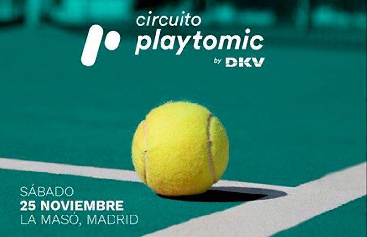 Cartel de la próxima prueba del Circuito Playtomic by DKV