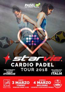 StarVie se suma al Cardio Padel Tour 2018 que se llevará a cabo en Italia