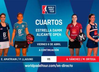 Estrella Damm Alicante Open: Orden de Juego de Cuartos de Final