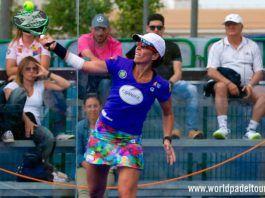 Lucía Sainz, en acción en el Caja Rural Jaén Open 2018