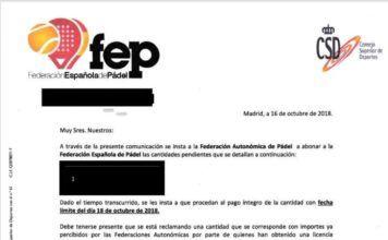 Comunicado oficial de la FEP a las Autonómicas.