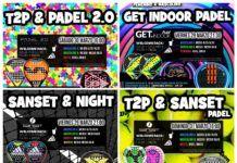 Los carteles informativos de Torneos Time2Padel para la semana.
