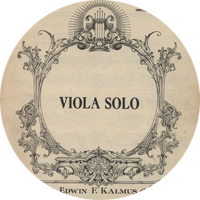 Viola solo sheet music cover