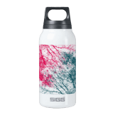 Abstract branches pink green thermos