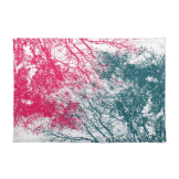 Abstract branches pink green placemat