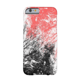 Abstract branches black orange iPhone case