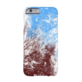 Abstract tree branches burgundy blue iPhone case