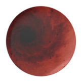 Abstract deep red vortex plate