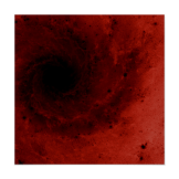 Abstract deep red vortex poster