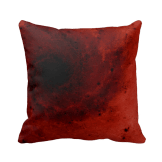 Abstract red vortex throw pillow