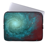 Galaxy photograph red green tints sleeve