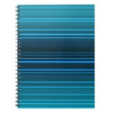 Abstract design in blue shades phone spiral notebook