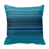 Abstract design in blue shades pillow