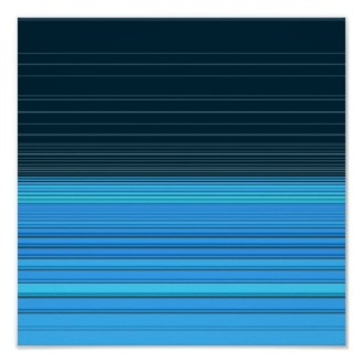 abstract horizontal lines design in blue poster