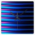 Abstract neon tones horizontal lines clock