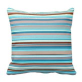 Abstract design horizontal lines in pastel colors pillow