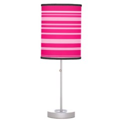 Hot and pale pink lamp