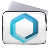 Impossible object blue hexagon laptop sleeve