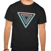 Nested impossible triangle men's tee