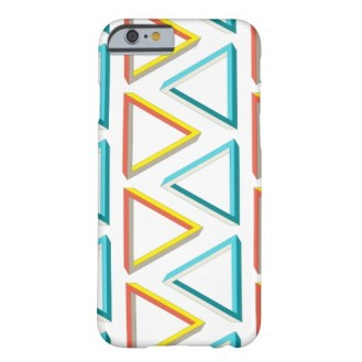 Impossible triangles pattern phone case