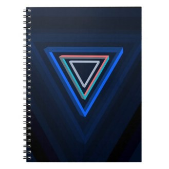 Nested impossible triangle spiral notebook