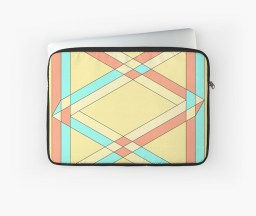 Impossible triangles overlapping laptop sleeve