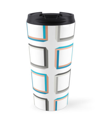 Impossible squares pattern travel mug