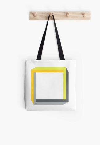 Impossible objects square tote bag