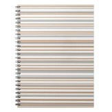 Abstract design horizontal lines in golden tones notebook