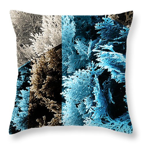 abstract geometric cypress throw pillow