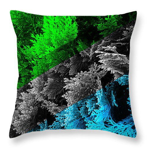 cypress branches no.6 throw pillow