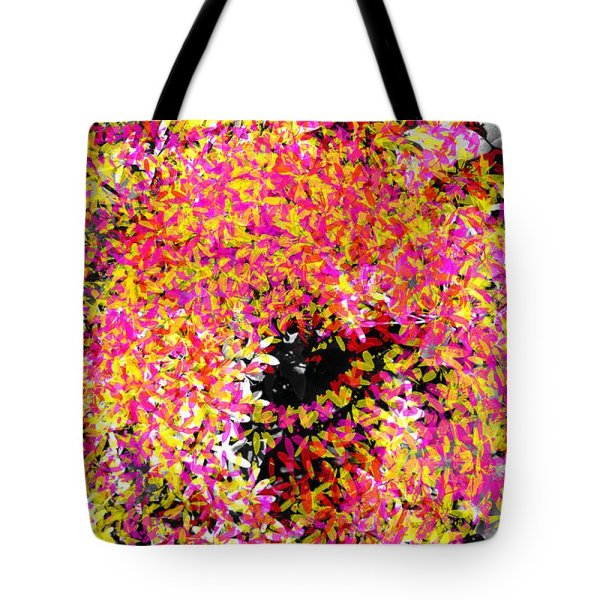 abstract colorful swirl tote bag