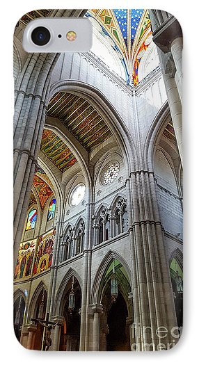 Almudena Cathedral Interior phone case