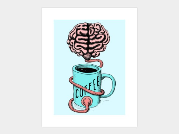 Coffee for the brain art print