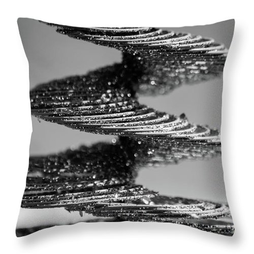 monochrome spiral photograph throw pillow