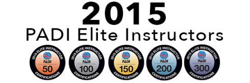 PADI Elite Instructors 2015