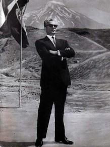 Mohammad Reza Shah Pahlavi at Damavand Mountain Alborz Range Iran
