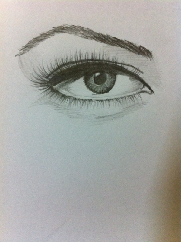 Abstract Pencil Drawing Eye