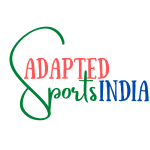 Adapted Sports India written in Indian flag colors