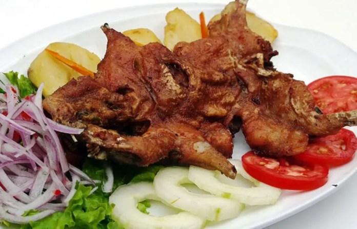 cuy peruano cocina receta