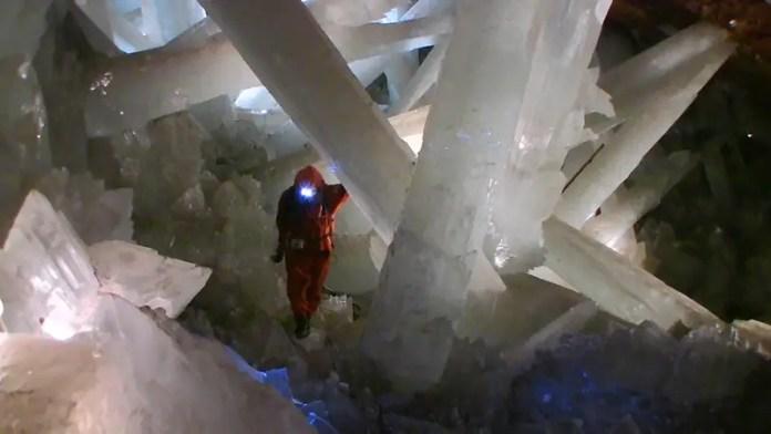 historia de los cristales en la la mina de plata naica