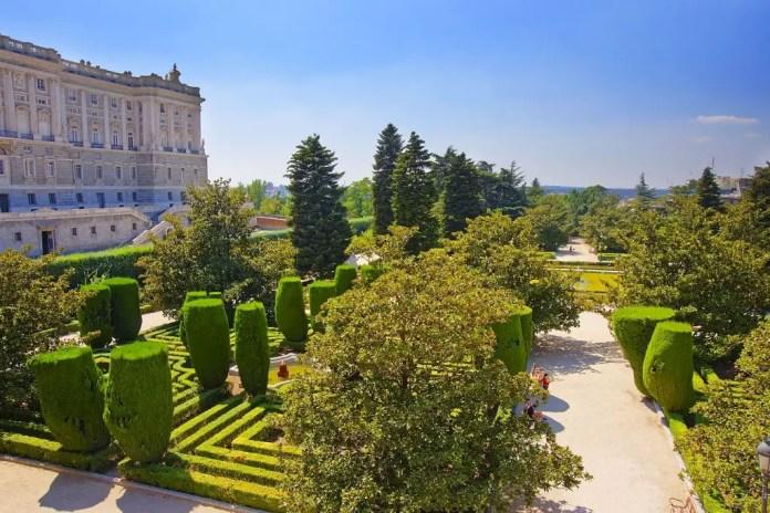 Lugares turísticos Madrid Jardines Sabatini