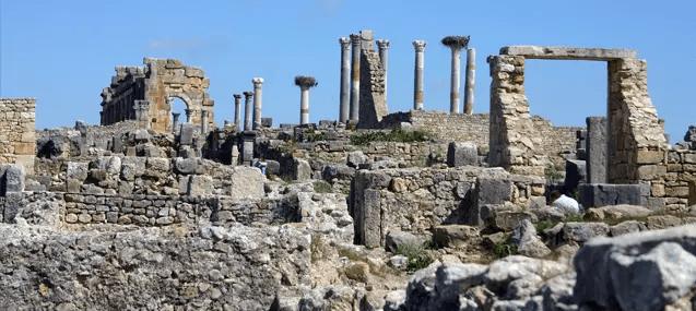 Volubilis, ciudad romana en Marruecos