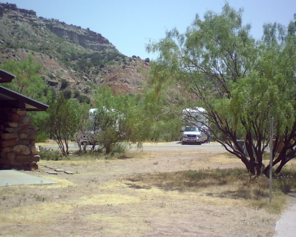 A campsite in Palo Duro Canyon