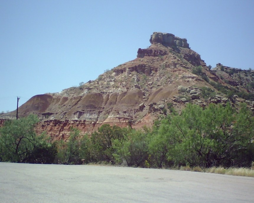 An interesting rock formation in the Palo Duro basin