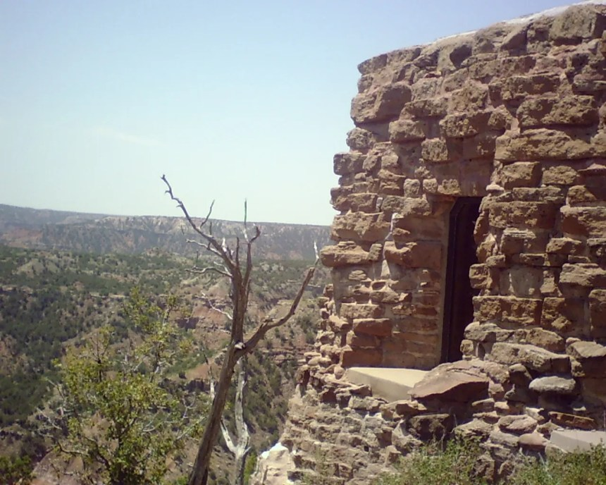Texas State Park cabin in palo duro state park